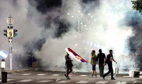 Американска компания участва в протестите в Сърбия