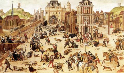 24 август 1572 г. Клане на хугеноти във Франция
