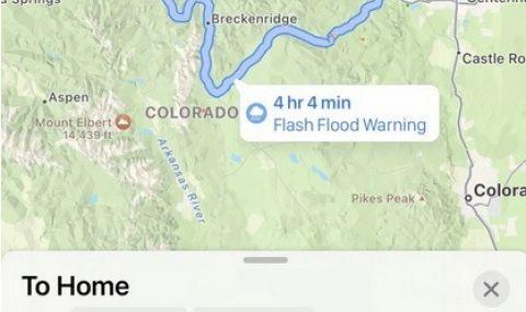Apple Maps ще предупреждава за наводнения - 1