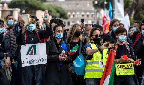 Протест на погребалните агенции