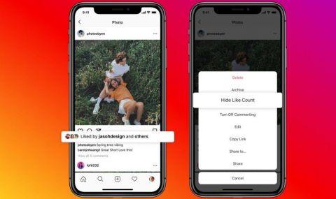 Вече може да криете харесванията си в Instagram