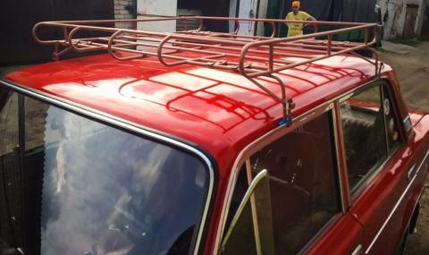 Глоба за самоделен багажник на покрива на колата
