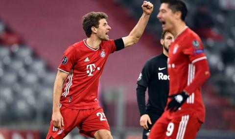 Байерн Мюнхен е на 1/8-финал в ШЛ след рутинна победа над РБ Залцбург