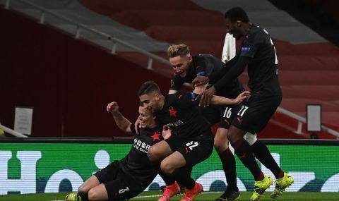 Славия Прага не се предаде и си остави шансове за реванша с Арсенал