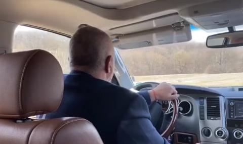 Борисов пак на инспекция с джипа, подкара и комунистите (ВИДЕО)