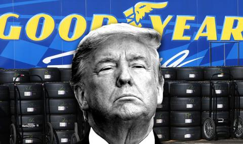 Тръмп призова да не се купуват гуми Goodyear