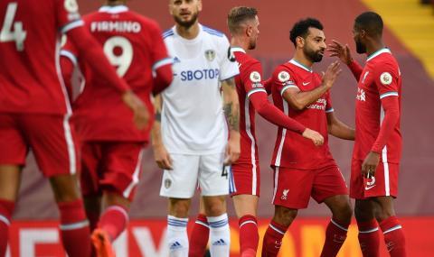 Истинско шоу! В мач със 7 гола Ливърпул победи Лийдс в самия край