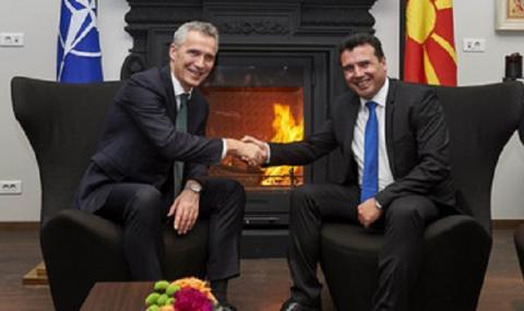 НАТО: Няма членство за Македония без договор за името