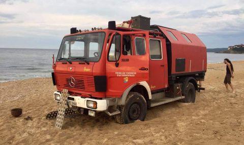 Два пъти задържат германеца, навлязъл в дюни с пожарна-кемпер - 1