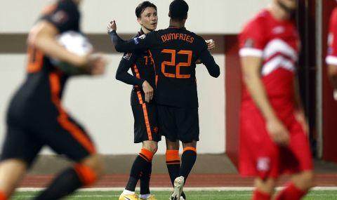 Нидерландия разпиля Гибралтар със 7:0 в световните квалификации за Мондиал 2022