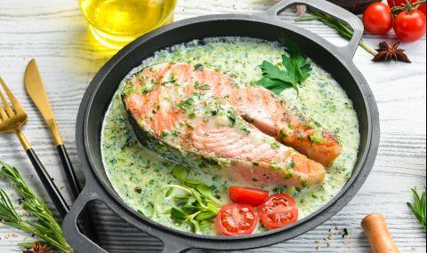 Рецепта за вечеря: Сьомга с нежен сос