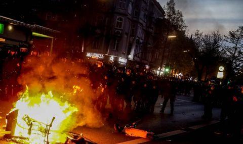 Бунт в Берлин! 30 000 демонстранти, стотици арести, пострадали полицаи