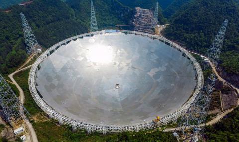 Китайски телескоп улови водородни вълни от далечни галактики