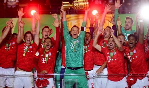 Байерн с дубъл в Германия, баварците разбиха Лайпциг на финала