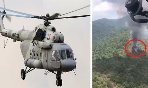 Хеликоптер се разби в Мексико, шестима души загинаха (ВИДЕО)