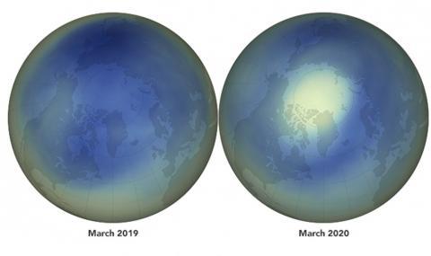 Огромна дупка в озоновия слой зейна над Арктика