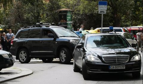 Удариха автомобил на НСО в София