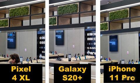 Възможностите на камерата на Samsung Galaxy S20 + в сравнение с Pixel 4 и iPhone 11 Pro