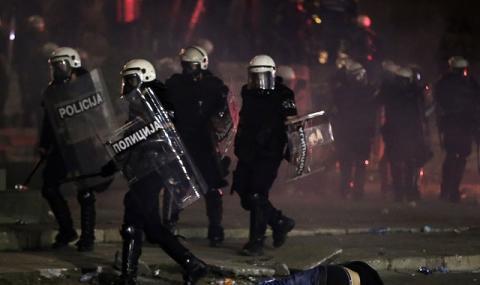 Броят на участниците в протестите в Белград намалява