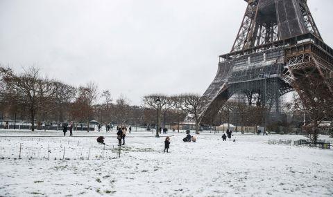 Снеговалеж и спрян ток във Франция