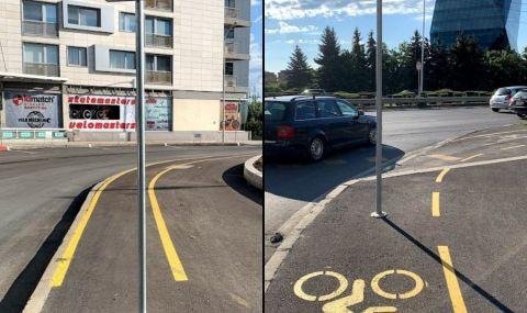 """Похарчени милиони: Пътни знаци по велоалеята на бул. """"България"""" - 1"""