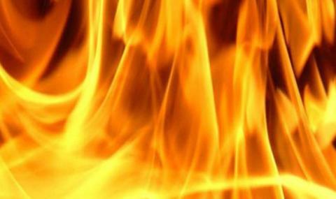 Пожар край сарая на Доган на морето