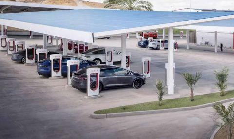 Обновени зарядни станции на Tesla ще предлагат зареждане с мощност до 300kW