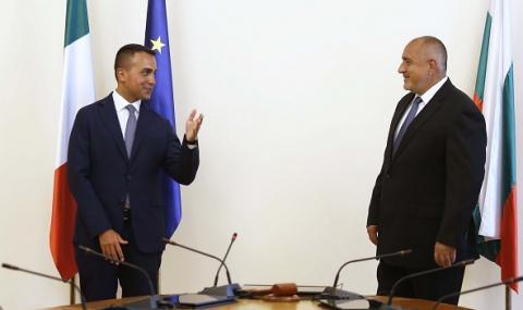 Борисов се срещна с външния министър на Италия