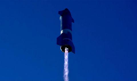 Компанията на Безос тества ракета за многократна употреба