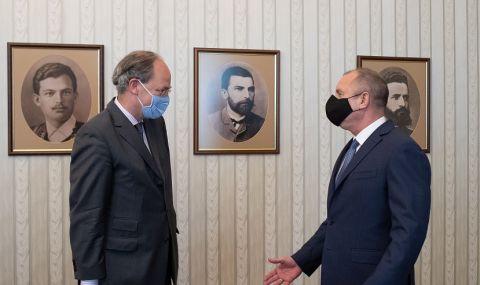 Румен Радев на работна среща с посланика на Германия Кристоф Айххорн