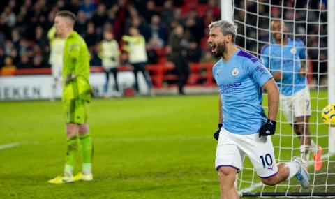 Агуеро отново спаси Манчестър Сити