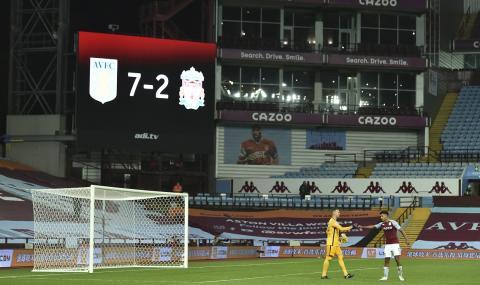 След Ман Юнайтед и Ливърпул бе унизен! ''Мърсисайдци'' загубиха с 2:7 от Астън Вила