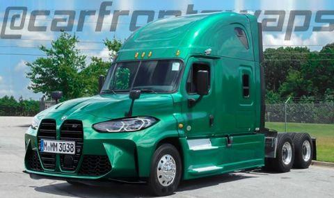 Камион с предница на BMW M3 изглежда изненадващо добре