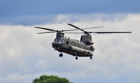 Хеликоптер на САЩ се разби в земята