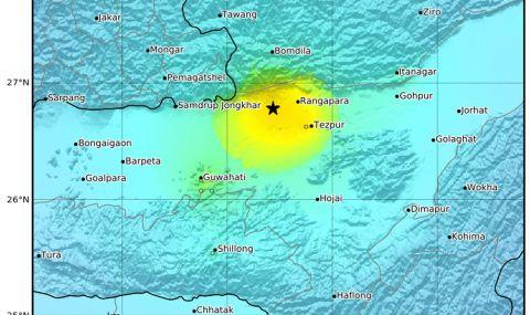 Силно земетресение удари Индия
