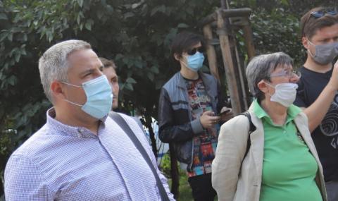Приключи протестът пред МВР за оставката на Маринов