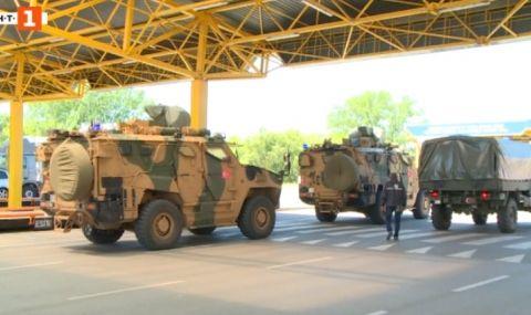 Военният конвой на НАТО обърка пътя, докато преминаваше през България