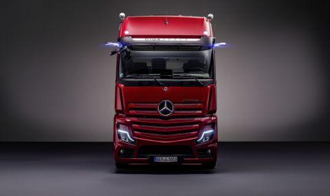 Запознайте се с новия голям камион Mercedes Actros L