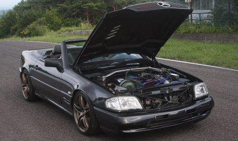 Продава се Mercedes SL с двигател от Toyota и седалки от Ferrari - 1