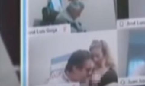 Депутат целуна гърдите на секретарката си пред колегите си (ВИДЕО)
