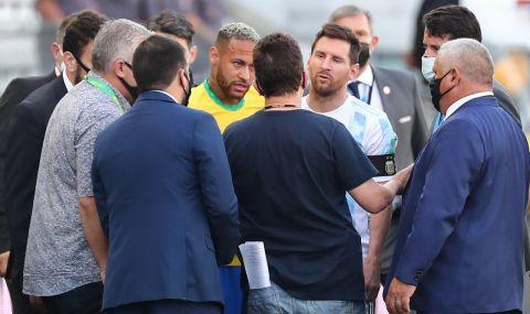 Огромен скандал: Прекратиха мача Бразилия - Аржентина заради COVID-19  - 1