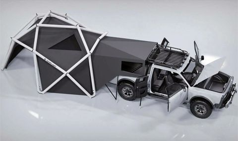 Палатка, превръщаща пикап в кемпер (ВИДЕО)