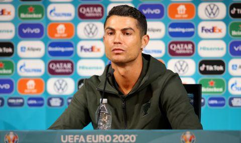 УЕФА предупреди играчите на Евро 2020 ако правят като Кристиано Роналдо