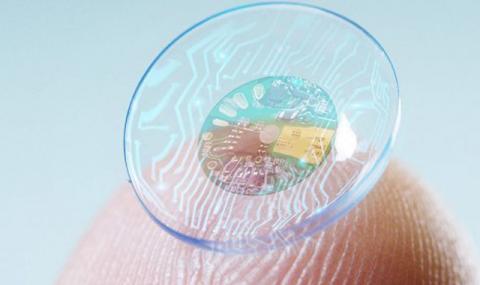 Дисплей, вграден в контактна леща (ВИДЕО)