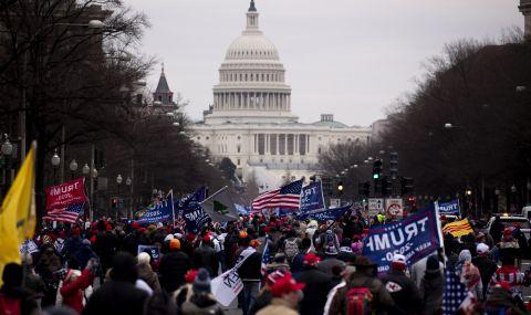 Протестиращи шестват във Вашингтон. Обсадиха Капитолия