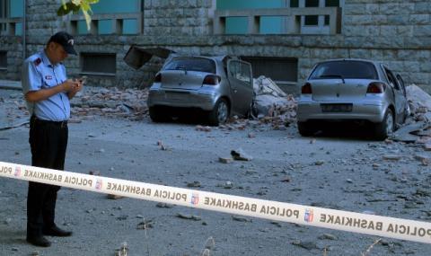 Няма данни за пострадали българи при труса в Албания