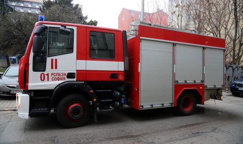 "Пожар в блок на столичния квартал ""Дружба"""