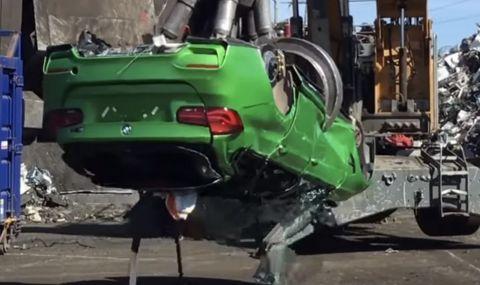Полицията във Великобритания унищожи поръчково BMW M3 комби - 1
