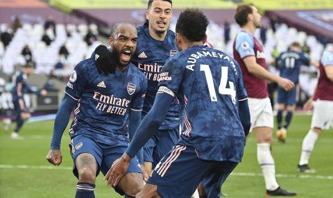 Арсенал не се даде на Уест Хям, въпреки че губеше с 3:0