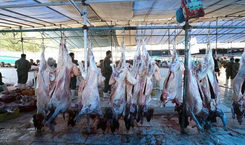 Заклани животни, мухи и кръв: шокиращи кадри от пазари в Азия